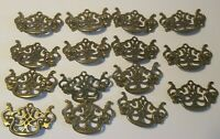 Lot of 15 Vintage Ornate Antique Brass Drawer Pulls #P-1067 Gold Metal 3 1/2""