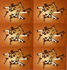Six paquets de 20 x 25 mm Laiton Split Pins/Papier Fasteners (120 in (environ 304.80 cm) Total)