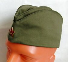 a1888dcc861 Soviet Russian Army Pilotka Garrison Cap Hat Red Star Badge Size 58-59 L New