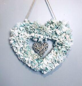 Heart Shaped Love Rag Wreath Decoration Gift