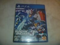 Gundam Breaker 3 Sony Playstation 4 PS4 Complete Game With Case Japan Import