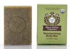 Moon Valley Organics Cleansing Body Bar, Oatmeal Sage, 4oz