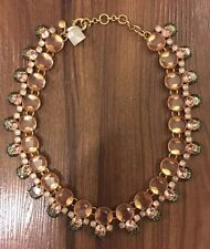 NWT J.Crew Vibrant Crystal Statement Necklace in Pale Rose (Pink/Green, E6449)