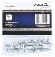 A-RM3 50pc M3 Rivnuts Blind Nutserts Threaded Rivet Nuts Carbon Steel Open End