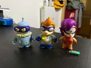 Futurama Kidrobot Super King Bender, Captain Yesterday, Clobberella Series 2