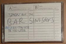 Simon & the Bar Sinisters - Rare Punk rock Demo Cassette circa 1990
