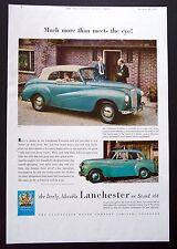 LANCHESTER FOURTEEN - Vintage Colour Magazine Advert - Motoring / Car (1952) *