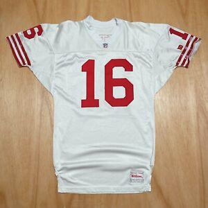 100% Authentic Joe Montana Vintage Wilson 49ers Jersey Mens Size 44 L Mens