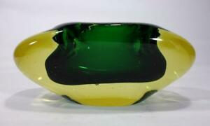 VINTAGE RETRO ITALIAN MURANO ART GLASS BOWL SOMMERSO