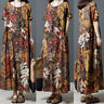 Mode Femme Ample Imprimé Floral Party Plage Casual Longue Robe Belle Maxi Plus