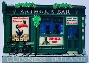 Guinness Arthur's Bar 3D Resin Fridge Magnet (sg 506610)