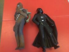 """STAR WARS APPLAUSE LARGE FIGURES CHEWBACCA AND DARTH VADER 10.5"""" 1995"""