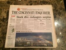Cincinnati Reds (Newspaper)- Rainbow over the River 3/14/01-Cincinnati Enquirer