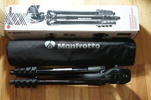 "Manfrotto - 60"" Compact Action Aluminum Tripod - Black (MKCOMPACTACN-BK)"