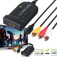 Convertisseur AV CVBS S-Video 3RCA vers HDMI Adaptateur HDMI 1080P avec câble