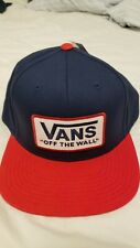 Vans Snapback Hat Blue And Red