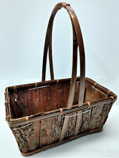 Tree Bark Basket for Plants or Your Collection of Items Strong Unique Authentic