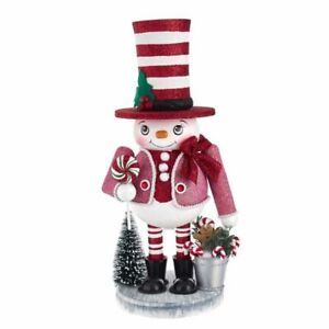 "Kurt Adler 12"" Hollywood Snowman Nutcracker."