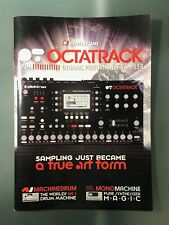 ELEKTRON OCTATRACK MKI MK1 SAMPLER BROCHURE BOOKLET MACHINEDRUM MONOMACHINE