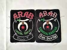 Shriners Two patches Sun Devils Arab Topeka Kansas
