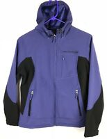 Free Country Womens Softshell Jacket Hooded Full Zip Fleece Lined Purple Small