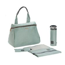 Lassig Glam Rosie 3-in-1 Diaper Bag, Mint with changing mat/zip pouch/wet pocket