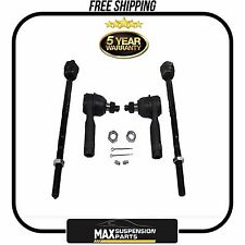 Fit Ford F-150 Lincoln Mark LT 2 Front Inner & 2 Outer Tie Rod Ends EV463 ES3691