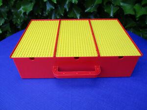 LEGO 2746 Sortierkasten Sortierbox mit 3 Bauplatten (1989) rot / gelb 80er