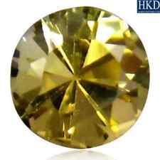1.07 ct HKD-Certified unheated Natural Round-cut Yellow VVS2 Tanzanite (Zoisite)
