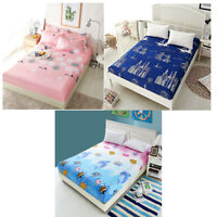Fitted Sheet Bed Cover Pillowcase Floral Printed Single Double King