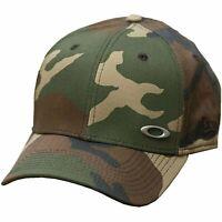 Oakley Men's Tinfoil New Era 39THIRTY Stretch Fit Hat Cap - Olive Camo (M/L)