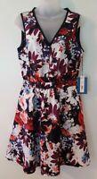 Simply Vera Vera Wang Colorful Floral Sleeveless Short Dress Size Small S NWT