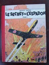 E.P. Jacobs - Blake et Mortimer - Secret de l'Espadon T1 - Ré. 1956 - Bon état