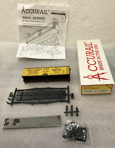 HO Scale Accurail 4800 Series 40' land O Lakes Wood Reefer #1575 NOS see photos