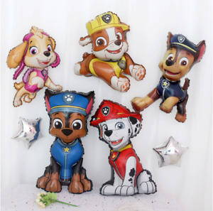 5 PCS Paw Patrol CHASE MARSHALL RUBBLE SKY Kids Party Foil Birthday Balloon