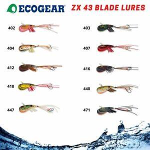 Ecogear ZX43 Fishing Blade Lure Bream Bass Trout Prawn Vibe Hard Body Metal UV