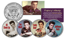 ELVIS PRESLEY 1957 #1 SONG HITS Licensed JFK Kennedy Half Dollars 4-Coin U.S Set