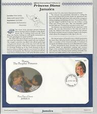 JAMAICA PRINCESS DIANA MEMORIAL First Day Cover