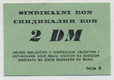 BOSNIA  2 German Mark ND1993 VF   MEDICAL CENTRE- BANJA LUKA war time local note
