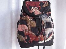 Artisan Treasures Handcrafted Equestrian Ponies Back-Pack Purse NEW