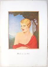 Eros November 1928 Erotic poster Blonde aux yeux bleus by Lorenzi