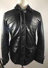 Moto Jacket Black Leather Zip Front Kenneth Cole Reaction Women's  Size M