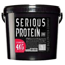 Serious Protein Whey Powder & Casein Blend 4kg Tub Anabolic Matrix Shake - Straw