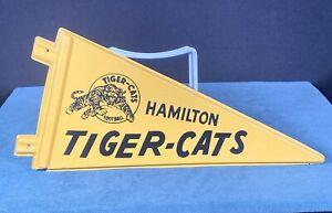 Vintage CFL Hamilton Tiger Cats RARE Canadian Football Pennant Molded Plastic