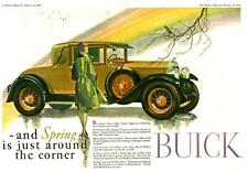 Old Print. 1928 Buick Standard Six 2-Passenger Coupe Auto Advertisement