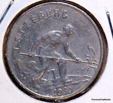 Monnaie Luxembourg 1 franc 1960 cupro-nickel LETZEBUERG ACA840