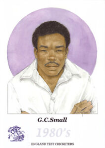 Gladstone Small - former England cricketer - Limited Edition watercolour print