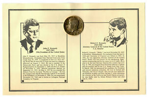 1988 John & Robert Kennedy Half-dollar 24K Plated