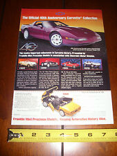 FRANKLIN MINT 1993 CORVETTE 40th ANNIVERSARY  ***ORIGINAL AD***