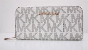 Michael Kors MK Jet Set Travel Continental Zip-Around Letter Wallet Purse